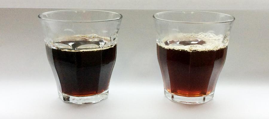 コーヒーの抽出前半と後半